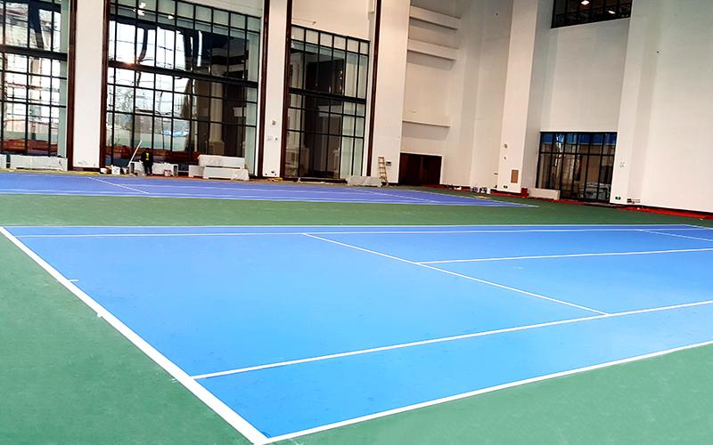 塑胶网球场中心千亿国际开户效果图(图文)
