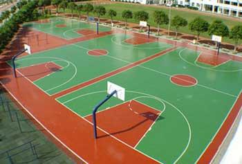 聚氨酯pu篮球场