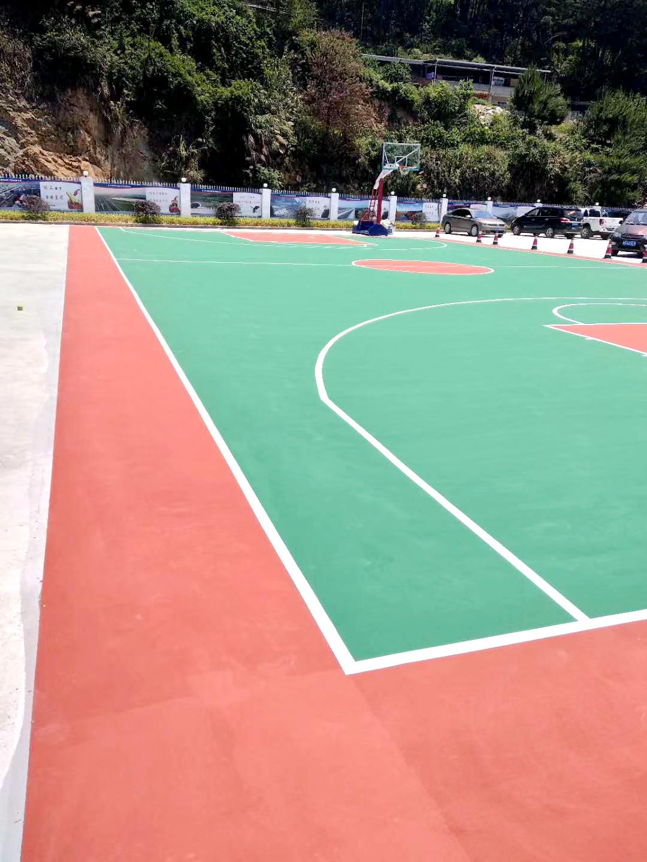 天津市王庆坨瓷砖场硅pu塑胶篮球场