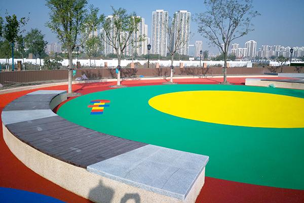 天津市津南体育公园epdm彩色颗粒千亿国际开户案例(图文)